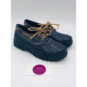 Sperry Navy Blue Waterproof Duck Shoes Size 6